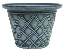 "Enchanted Garden™ 16"" Enviroblend™ Eco-Resin Lattice Round Planter"