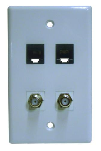 Electric And Cable Wall Plate : Dual cat coaxial wall plate at menards