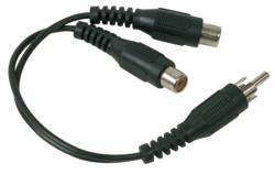 """3"""" Shielded Y Audio Cable"""