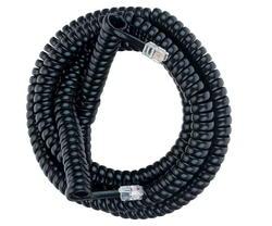 25' Black Handset Cord