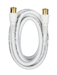3' White RG6 Coaxial Cable
