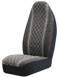 Diamond Tweed Gray Bucket Seat Cover