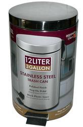 Designer's Choice 12-Liter Stainless Steel Wastebasket