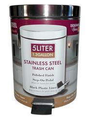 Designer's Choice 5-Liter Stainless Steel Wastebasket