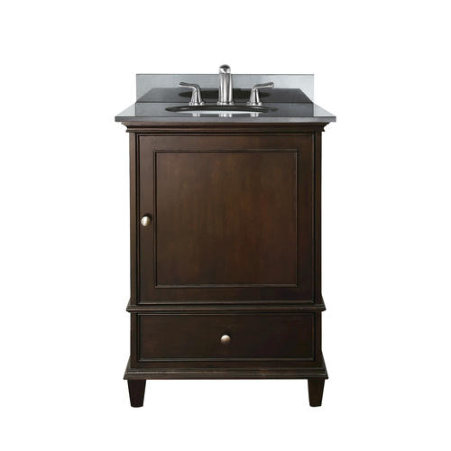 avanity 24 quot walnut vanity with black granite top and undermount sink at menards 174