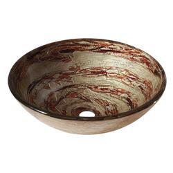 Avanity Copper Swirl Tempered Glass Vessel