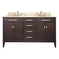 "Avanity 60"" Light Espresso Madison Vanity Only"