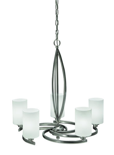Patriot Lighting Tempe Brushed Nickel 5 Light Chandelier At Mena