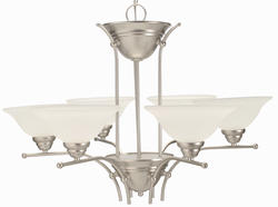 "Aztec Lighting 28"" Silver Mist 6-Light Chandelier"