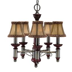 "Aztec Lighting 16"" Antique Nickel 5-Light Mini Chandelier"