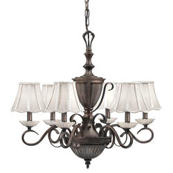"Aztec Lighting Collette 26.5"" Legacy Bronze 6-Light Chandelier"