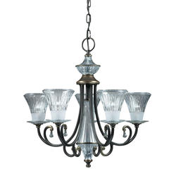"Aztec Lighting Windham 25"" Olde Bronze 5-Light Chandelier"
