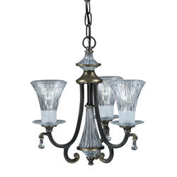 "Aztec Lighting Windham 14"" Olde Bronze 3-Light Chandelier"