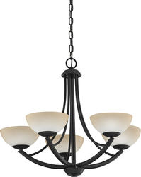 "Patriot Lighting® Amelia 25"" Tannery Bronze 5-Light Chandelier"