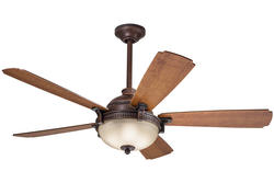 "Turn of the Century® Fedor 52"" Bronze Patina Ceiling Fan"