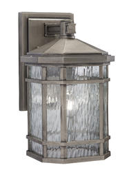 "Patriot Lighting® Kristine 14-1/4"" Silver 1-Light Outdoor Wall Light"