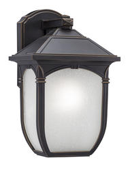 "Patriot Lighting® Elegant Home Keira 11-1/8"" Oil Rubbed Bronze 1-Light Outdoor Wall Light"