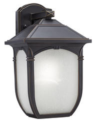 "Patriot Lighting® Elegant Home Keira 13-3/4"" Oil Rubbed Bronze 1-Light Outdoor Wall Light"