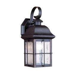 "Patriot Lighting® Hawkins 13"" Olde Bronze 1-Light Outdoor Wall Mount"
