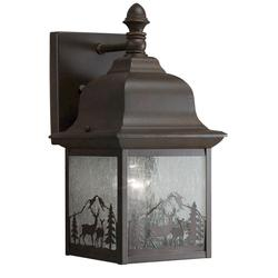 "Patriot Lighting® 12"" Tannery Bronze 1-Light Outdoor Wall Mount"