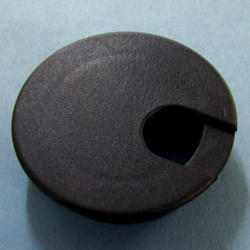 """2-1/2"""" Black Desk Grommet"""