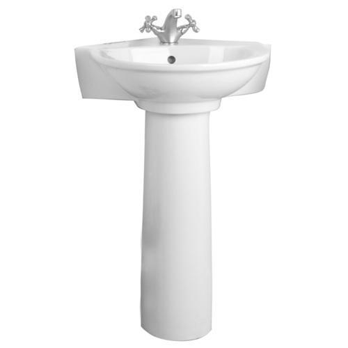 Barclay Evolution Pedestal Bathroom Sink Column, White - COLUMN ONLY