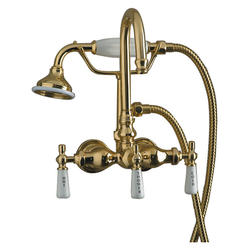 Barclay Tub Wall-Mount Filler with Gooseneck and Handshower