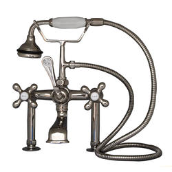 Barclay Tub Deck-Mount Filler with Elephant Spout & Cross Handles