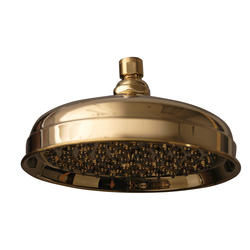 "Barclay 8"" Euro Showerhead with 90 Brass & Rubber Nozzle"