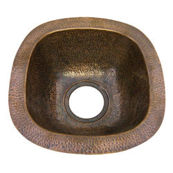 """Barclay 12-3/4"""" Square Copper Prep/Bar Sink"""