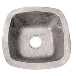 """Barclay 16"""" Square Copper Prep/Bar Sink,"""