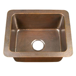 "Barclay 21"" Single Bowl Copper Drop-In Kitchen Sink"