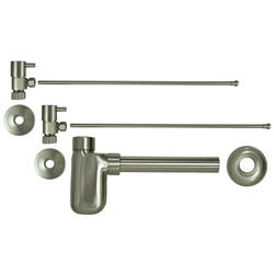 Barclay Bathroom Sink Supply Kit with Trap, Lever Handles