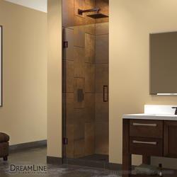 """DreamLine Unidoor 28"""" Frameless Hinged Shower Door"""