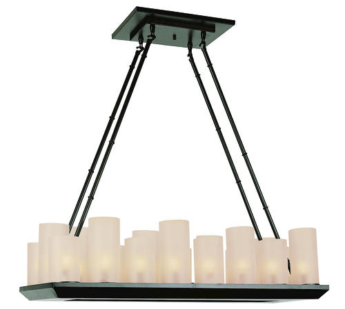Patriot Lighting Elegant Home Evolet 18 Light 32 Oil Rubbed Bronze Cha