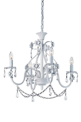 Patriot Lighting Dierdre 4 Light 20 Antique White Chandelier At Menards