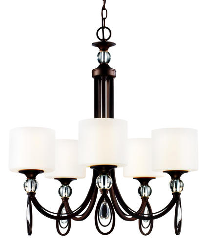 Patriot Lighting Elegant Home Daphne 5 Light Weathered Bronze Chandelier At