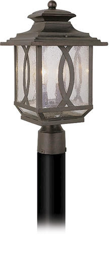 Patriot Lighting William 2 Light 17 7 8 Burnished Rust Outdoor Post La