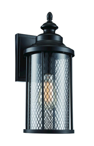 Patriot Lighting Eldon Black Outdoor Wall Light at Menards