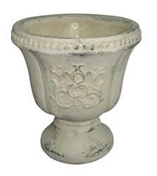 """8"""" Grecian Whitewash Urn"""
