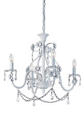 "Patriot Lighting® Dierdre 4 Light 20"" Antique White Chandelier"