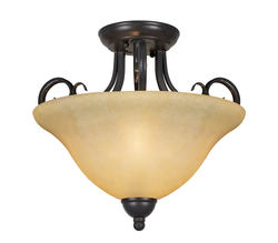 "Patriot Lighting® Ericka 2 Light 14"" Semi-Flushmount"