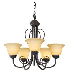 "Patriot Lighting® Ericka 5 Light 21"" Chandelier"