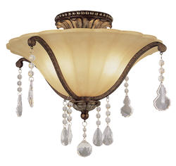 "Patriot Lighting® Elegant Home Natalie 2 Light 18"" Semi-Flushmount"
