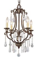 "Patriot Lighting® Elegant Home Natalie 4 Light 23 3/4"" Chandelier"