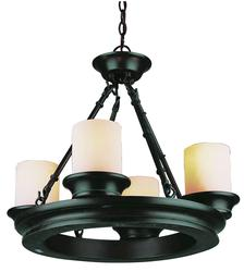 "Patriot Lighting® Elegant Home Evolet 4 Light 17"" Chandelier"