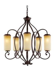 "Patriot Lighting® Elegant Home Haylee 5 Light 29.5"" Chandelier"
