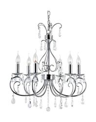 "Patriot Lighting® Elegant Home Jessica 6 Light 20"" Chandelier"