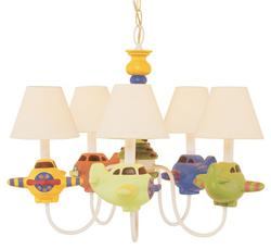 "Patriot Lighting® Airplane 5 Light 18.5"" Chandelier"