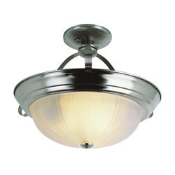 "Bel Air Lighting Classic 3 Light 15"" Brushed Nickel Semi Flushmount"